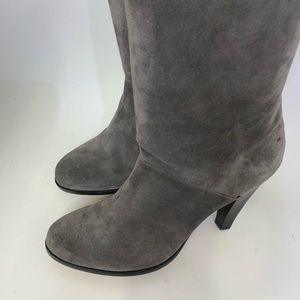 Michael Kors Shoes - MICHAEL KORS Suede HEELED KNEE BOOTS size 8 gray